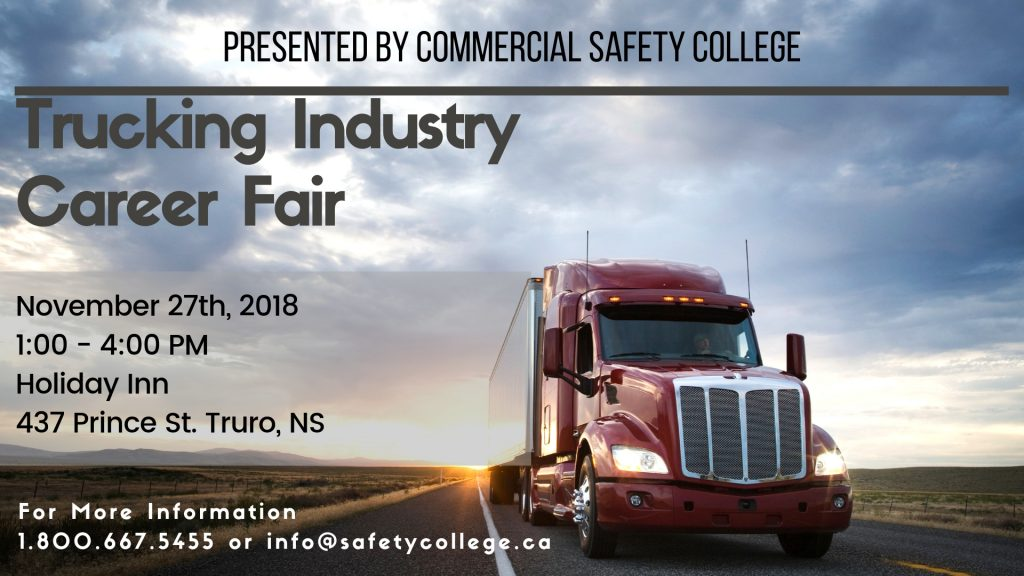 Trucking Industry Career Fair - Fall 2018 Banner