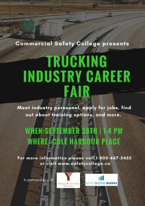 Trucking Industry Career Fair - Poster